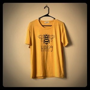 Brand new, Bee Happy, Tee, xl, butter soft yellow